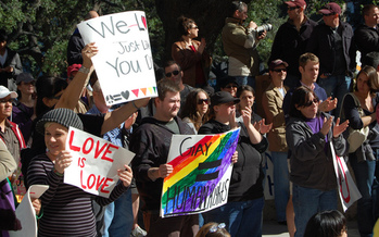 PHOTO: The U.S. Supreme Court will hear arguments next month on the constitutionality of state bans on same-sex marriage, as is currently the law in Texas. Photo credit: us006409/Flickrl.