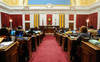 PHOTO: 'Dark money' disclosure provisions were stripped from a campaign finance bill in the West Virginia Legislature late Sunday night. Meanwhile, a secretive conservative group's $100,000 per person breakfast was cancelled after local reporters got ahold of an invitation. Photo courtesy West Virginia Legislature.