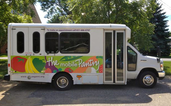 PHOTO: A committee hearing is set for today on a bill to provide funding for mobile food-shelf programs in Minnesota. Supporters say mobile pantries are more efficient and economical and can reach those families that lack transportation options. Photo credit: The Open Door.