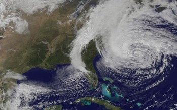 PHOTO: Many want Gov. Terry McAuliffe's Climate and Resiliency Commission to plan for sea-level rise on the Virginia Coast, in part because of storms such as Hurricane Sandy. Photo courtesy of NASA.