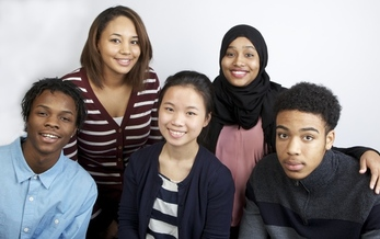 PHOTO: Five high school seniors each will be awarded a $5,000 scholarship Saturday at the 23rd Annual Beat the Odds Celebration from Children's Defense Fund-Minnesota. (Left to right: Martell Person, Makayla Hout, Kao Soua Yang, Nasro Mohamed, Randy Mathews) Photo credit: Children's Defense Fund - Minnesota.