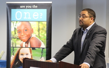 PHOTO: West Virginia child abuse survivors who have become public figures, including TV news anchor Greg Carter, are coming forward to talk about what happened to them. Photo credit: Will Laird/West Virginia Child Advocacy Network.