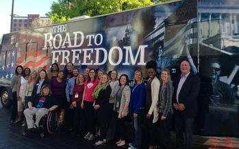 PHOTO: The ADA Legacy Tour travels to 48 states over the next year to celebrate the 25th anniversary of the Americans with Disabilities Act. Photo courtesy of ADA Legacy Tour.