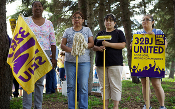 Janitors and other members of 32BJ SEIU in Connecticut will take part in