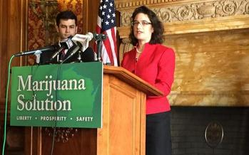 PHOTO: State Rep. Melissa Sargent (D-Madison) will once again introduce legislation to legalize medicinal and recreational marijuana use in Wisconsin, saying the most dangerous thing about marijuana is that it remains illegal in Wisconsin. Photo credit: Dylan Brogan