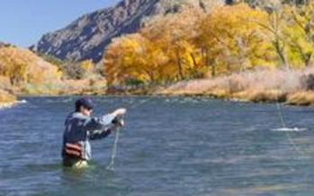 PHOTO: A bipartisan survey from the Center for Western Priorities shows three quarters of New Mexicans, and a majority of Americans throughout much of the West, oppose states taking control of federally-managed public lands. Comments from Ivan Valdez, owner, The Reel Life (fly fishing store and guide service) in Santa Fe. Image available: photo of man fly fishing in the Rio Grande River. Photo courtesy of the Reel Life.