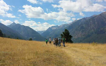 PHOTO: Hikers enjoy the east moraine of Wallowa Lake. Private land along the lake is part of a preservation proposal that depends on Land and Water Conservation Fund dollars. Photo credit: Kathleen Ackley, Wallowa Land Trust.