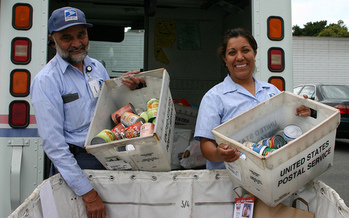 PHOTO: The National Association of Letter Carriers will conduct its 23rd annual food drive tomorrow. People are encouraged to leave a sturdy bag containing non-perishable foods next to their mailbox before the regular mail delivery on Saturday. Photo credit: Flickr Commons.