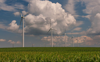 PHOTO: The wind energy industry employs around 6,000 Iowans, and electricity rates in the state are lower than the national average, according to a new report. Photo credit: Carl Wycoff/Flickr.