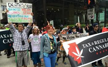 PHOTO: The Chicago 2015 Global Cannabis March takes place Saturday. As they did last year, activists will celebrate the progress made toward legalizing medical marijuana and build support for continued policy reform. Photo courtesy Illinois NORML.