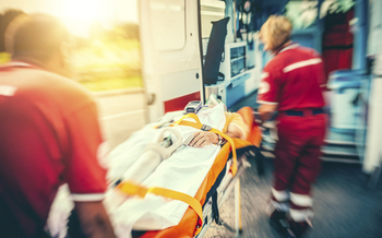 PHOTO: A new study finds that heart attack patients who take a private vehicle to the hospital delay their treatment by 15 minutes when compared with calling 911 for an ambulance.