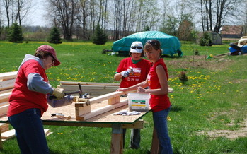 PHOTO: Women will take the lead at dozens of Habitat for Humanity sites statewide this week as part of the annual Women Build Week. Photo courtesy of Habitat for Humanity of Clinton County.
