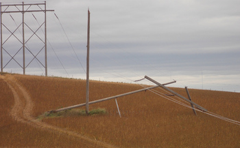 PHOTO: With an increasing number of Iowans impacted by energy transmission projects, new research points to key strategies for landowners in cases that may involve eminent domain. Photo credit: Western Area Power/Flickr.