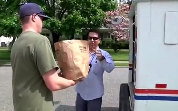 PHOTO: Hundreds of thousands of pounds of food are expected to be collected in Utah during Saturday's Stamp Out Hunger food drive during which letter carriers collect bags of food left by  mailboxes. Photo courtesy Utah Food Bank.
