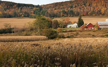 PHOTO: A new report bolsters New York towns such as Dryden that won the right to zone out fracking because of health and safety concerns. Photo credit: Chris Jordan-Bloch Earthjustice.