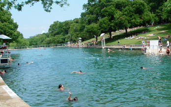 PHOTO: To keep Barton Springs fresh in time for summer, this coming Saturday volunteers will be cleaning trash and debris from the Shudde Fath Tract in Southwest Austin. Photo courtesy of the City of Austin.
