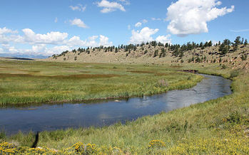 PHOTO: The Bureau of Land Management wants public input for a master leasing plan for energy development in Colorado's South Park Basin, an area that supplies more than half of Denver's drinking water. Photo credit: Jeffrey Beall/Wikimedia Commons.