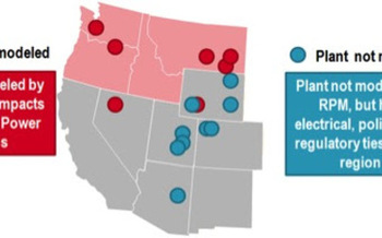 The Northwest Energy Coalition is asking the Northwest Power and Conservation Council to take into account the expenses of coal plants in the region, not just the four-state area shown in red, in its new forecast document known as the Seventh Northwest Power and Conservation Plan. Courtesy: Northwest Energy Coalition.