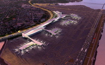 PHOTO: The planned revitalization of New York City's LaGuardia Airport is expected to bring thousands of new jobs to the region. Photo courtesy Office of Gov. Andrew Cuomo.