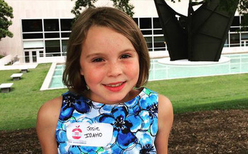 ight-year-old Josie Roll of Moscow, Idaho, recently went to Washington, D.C., to see her winning healthy recipe served at a White House dinner. Credit: Kate Roll.