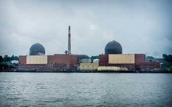 PHOTO: Opponents of nuclear power say a major accident at Indian Point Energy Center would endanger the lives of millions of New Yorkers who live within 25 miles of the plant. Photo credit: Peretz Partensky/Wikimedia Commons.
