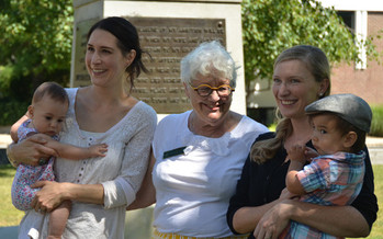State Sen. Martha Fuller (D-Portsmouth) joins local moms at kickoff for World Breastfeeding Week in Concord: Courtesy: Granite State Progress Education Fund
