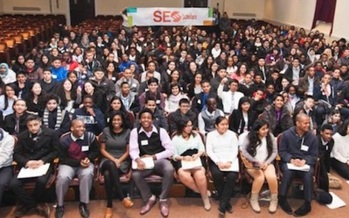 PHOTO: High School students in the SEO Scholars program get extra academic instruction. Photo courtesy of Sponsors for Educational Opportunity