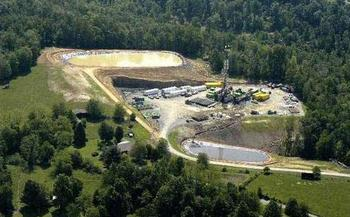 A new process is designed not to use any surface water at all to frack gas wells. Photo courtesy of the Sierra Club.