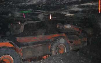 Heavy equipment in a coal mine. Courtesy: U.S. Department of the Interior.