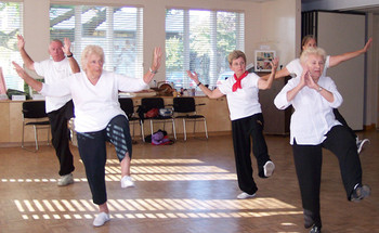 Tai chi is one recommendation for older people to improve strength and balance and reduce their risk of taking a serious fall. Credit: taichiexercises.org