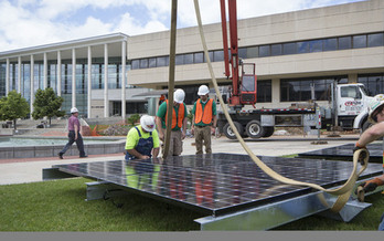 Sustainable practices are both implemented and taught at Missouri State University, which now offers a minor in the field. Credit: MSU Office of Communications.