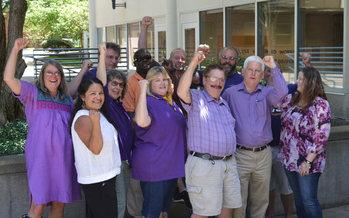 The bargaining team for SEIU Local 503 higher-education classified workers. Courtesy: SEIU Local 503.