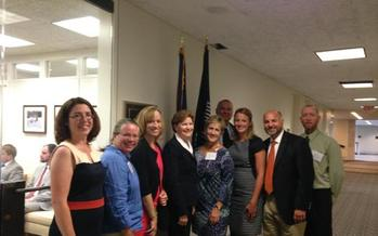 A delegation of Granite Staters traveled to Washington last week to drum up support for the EPA's Clean Power Plan. Included was a visit with Senator Jeanne Shaheen, D-N.H., who supports the plan. Courtesy: K. Roert