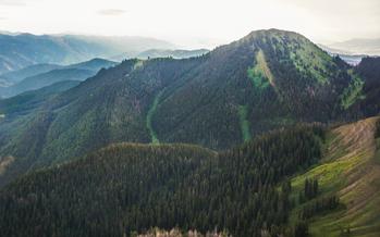 Palisades Wilderness Study Area in Bridger-Teton National Forest. Credit: Ecoflight