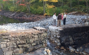 Removal of this dam in Lyme, Conn., will restore natural conditions to 8.3 miles of streams. Credit: Sally Harold.