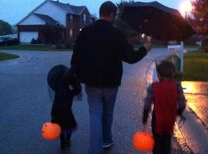 Safety advocates say children never should trick-or-treat alone. Credit: M. Kuhlman