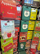 Gift cards on store racks are a popular target for holiday scams. Credit: 401(k) 2012/Flickr