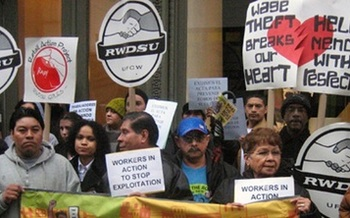 A new report says wage theft is robbing millions of New Yorkers of billions of dollars. Advocates say communities with large populations of immigrant workers such as New York City and Long Island are ripe for this fraud. Courtesy: Make the Road New York