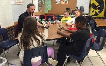 Matt Brem is a fifth-grade teacher at Pierce Elementary School in Cedar Rapids. Courtesy: Iowa State Education Association