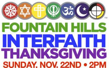 Interfaith Thanksgiving this Sunday. Credit: Rev. David Felton, United Methodist Church