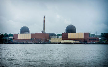 Twenty million people live within 50 miles of the Indian Point nuclear power plant, along the Hudson River in Westchester County. Credit: Peretz Partensky/Wikimedia Commons.