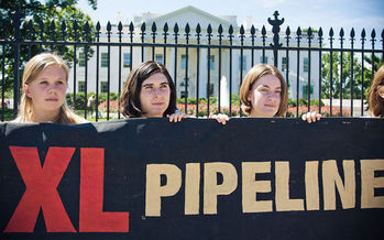 The company behind the Keystone XL pipeline is tapping rules under NAFTA to try to win more than $15 billion from the U.S. in damages. (PDTillman/Wikimedia Commons)