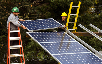 Residential applications for solar panels in Oregon nearly doubled last year. (Oregon Department of Transportation)
