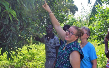 Rita Argus, a UW-Madison graduate and Peace Corps volunteer, is using her degree in biological systems engineering to improve sustainable agriculture in Senegal. (William Graf, UW-Madison)