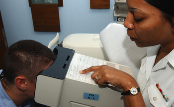 Nearsightedness increased by 66 percent in the U.S. between the 1970s and 2000s, according to a JAMA Ophthalmology study.(Jessica McCahan/U.S. Navy)