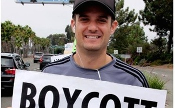 SeaWorld has admitted sending employee Paul McComb to pose as an activist. (April Cruz/PETA)