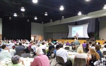 Ideas for Kentucky's transition to a clean-energy economy are gathered at a public forum in Lexington. (Greg Stotelmyer)