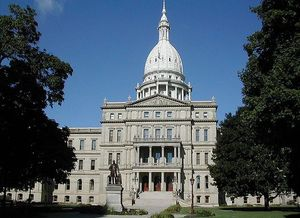 At the state Capitol, environmental groups will demonstrate what they say is the hazardous state of energy production in Michigan. (Brian Charles Watson/Wikimedia)