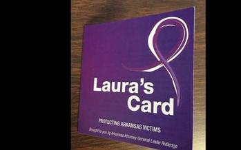 Police officers in Arkansas are giving out Laura's Card to anyone involved in a domestic situation to try to combat the rise in domestic violence.