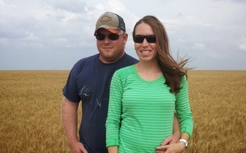 Montana farmers Jeff and Katie Bangs are working to attract more young people to agriculture. (Katie Bangs)